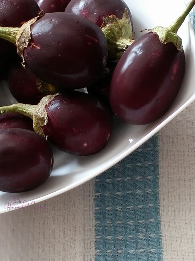 Eggplants ready to be used