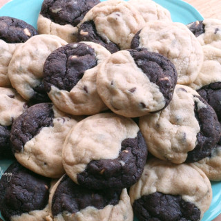 Peanut Butter Reverse Chocolate Cookies