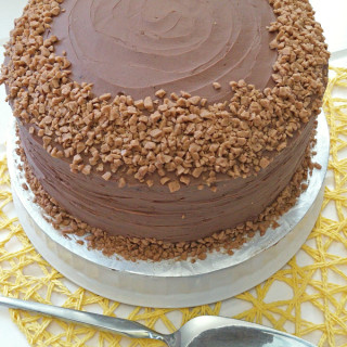 The flavours of toffee and chocolate merge together to make this awesome Speckled Toffee Cake. Perfect for those special celebrations.|SPECKLED TOFFEE CAKE