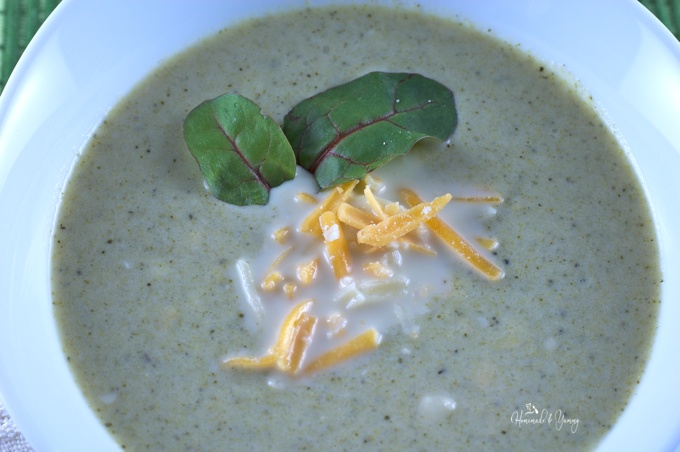 Broccoli Overload Soup is quick and easy using minimal ingredients but delivering huge flavour. Can be made creamy, cheesy or both!! | homemadeandyummy.com