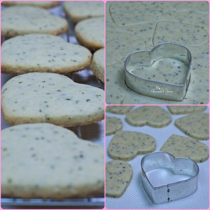 Close up of cookies and cookies cutter.
