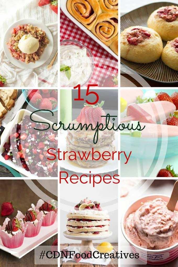 Fresh Strawberries #CDNFoodCreatives