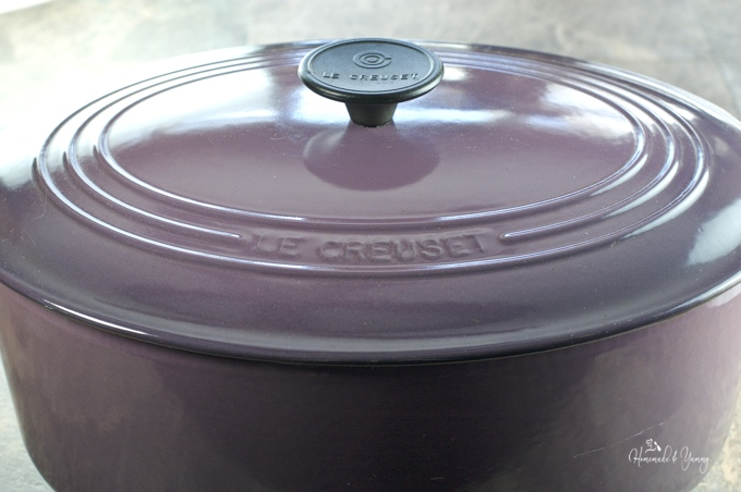 Picture of Le Creuset oval french oven.