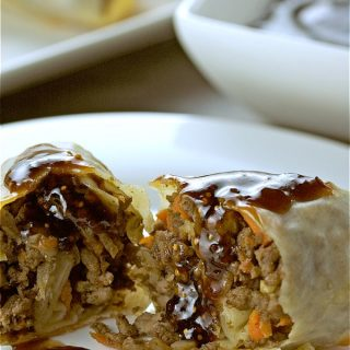 Baked Roccan Lamb Rolls combines the wonderful Moroccan flavours into an egg roll. Baked not fried for a healthier appetizer. | homemadeandyummy.com