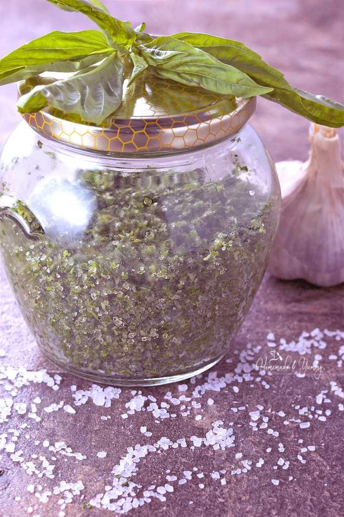 Fresh Herb Salt in a jar.