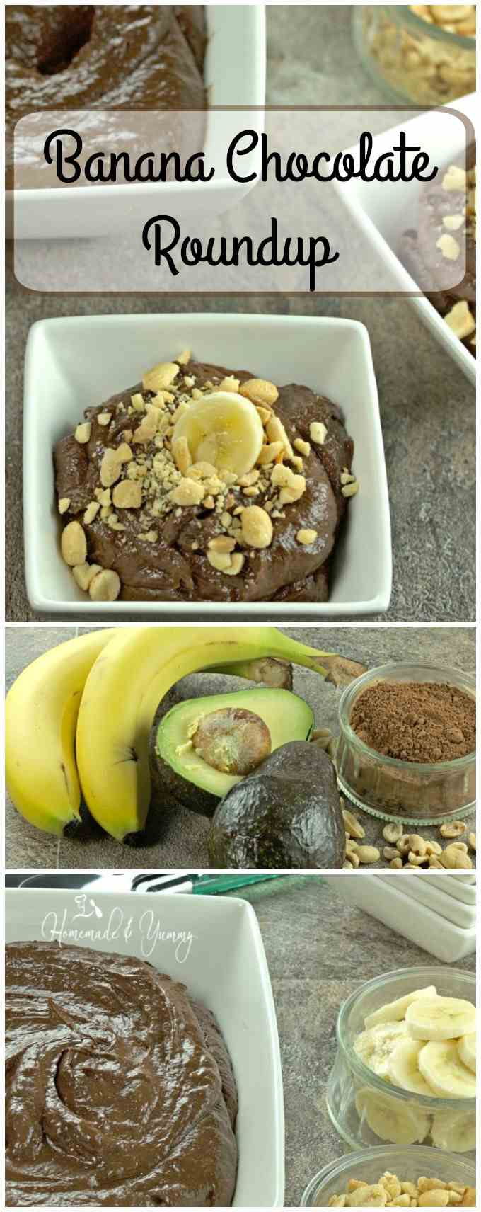 Looking for a great snack? This Banana Chocolate Roundup is the perfect choice. All natural, no sugar, gluten free. Healthy and delicious! | homemadeandyummy.com