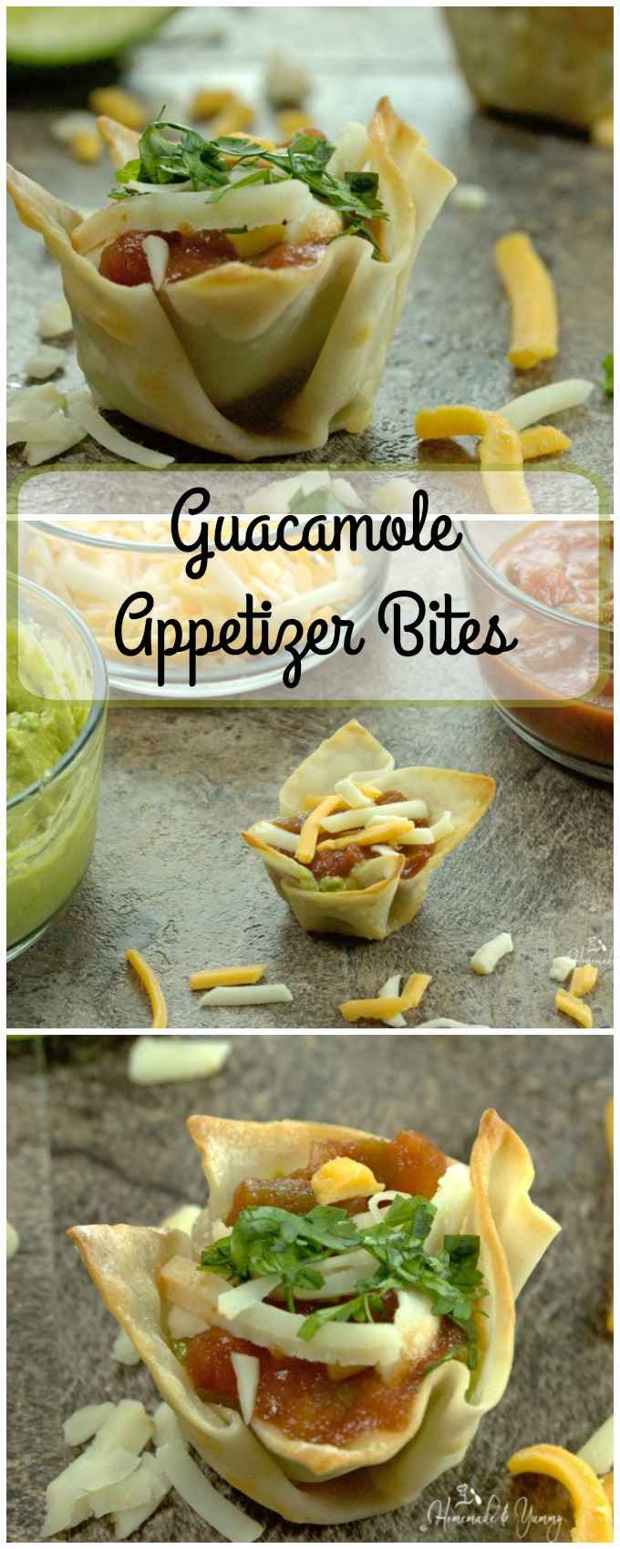 Guacamole Appetizer Bites long pin image.