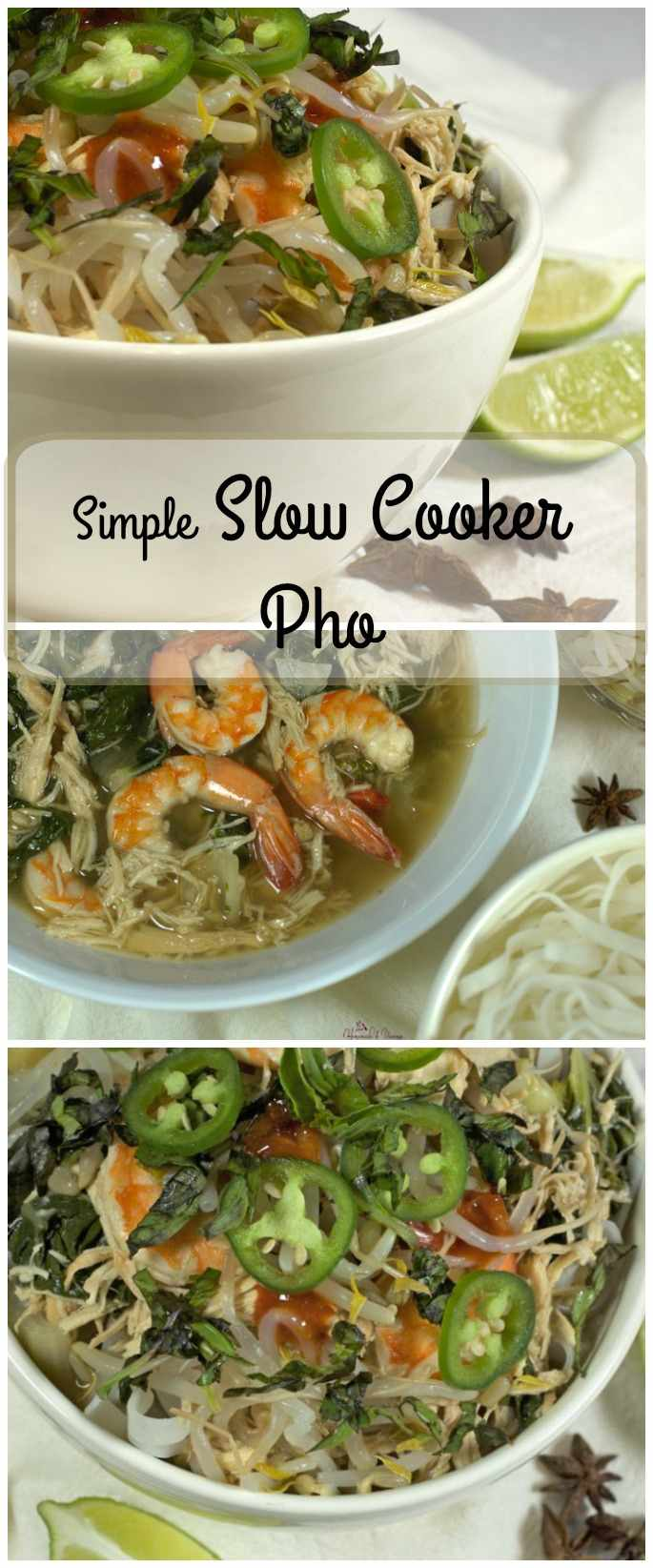 Simple Slow Cooker Pho long pin image.