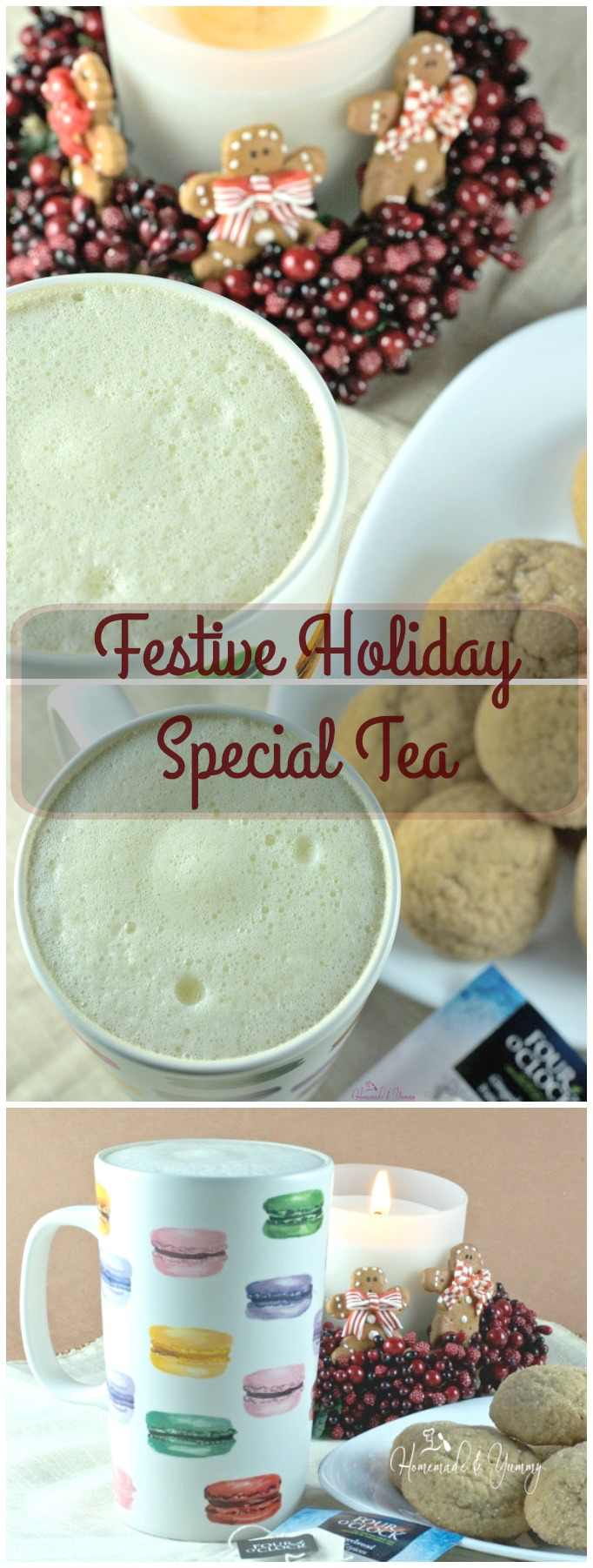 Festive Holiday Special Tea long pin image.