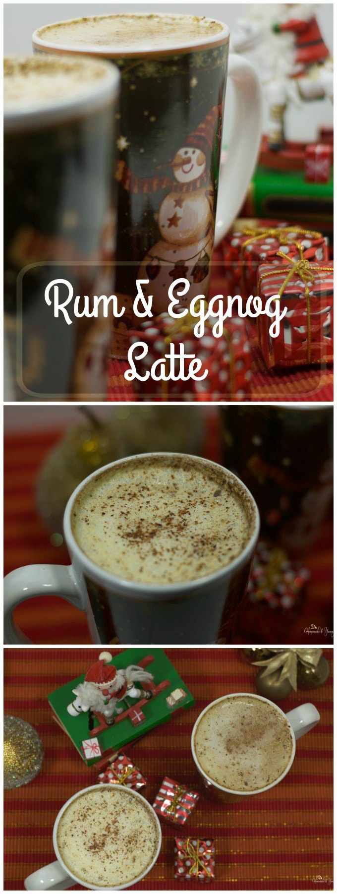 Rum & Eggnog Latte long pin image.