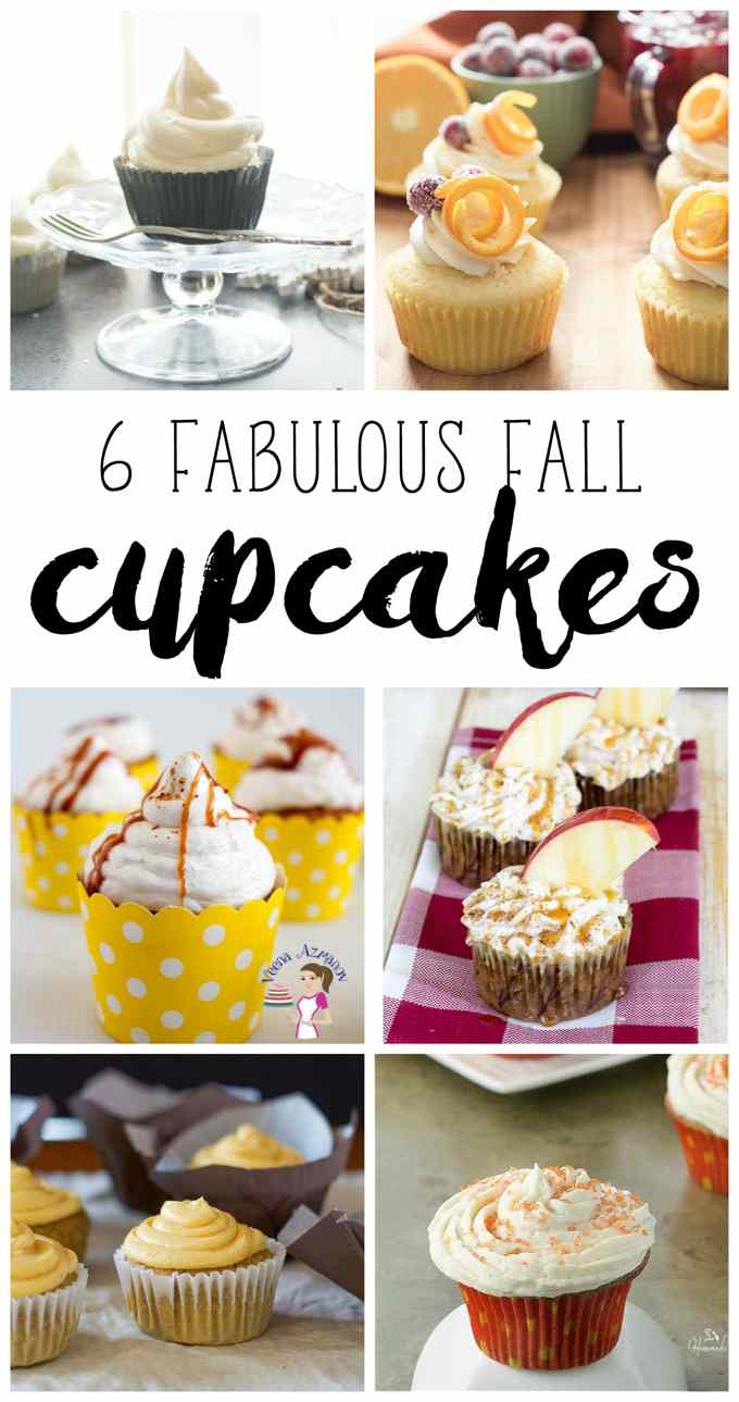 Fall Cupcakes #FoodBlogGenius collage image.