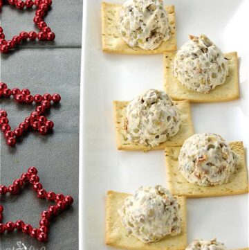 Green Lentil Mini Cream Cheese Balls are easy to make and party perfect. Add some interesting texture, taste and nutrition to your holiday appetizers. | homemadeandyummy.com #LoveLentils #Sponsored