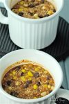 Easy Mexican Quinoa Individual Mini Casseroles make a great dinner any night of the week. Mix everything up in the individual mugs, bake or microwave. Meatless & gluten-free too. #MealMugs #Sponsored   homemadeandyummy.com