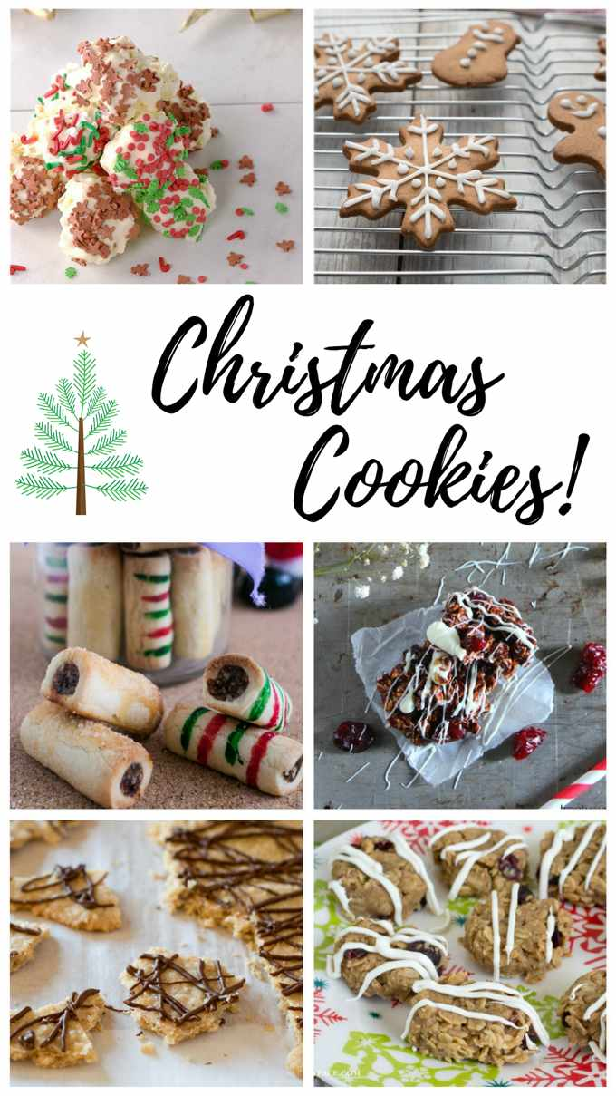 #FoodBlogGenius Christmas Cookie Collage image.