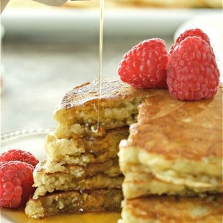 Nutritious Oatmeal Chia Pancakes with Kefir are hearty and delicious. Traditional pancakes are kicked up a notch. Healthy and satisfying. Perfect for dinner too. | homemadeandyummy.com