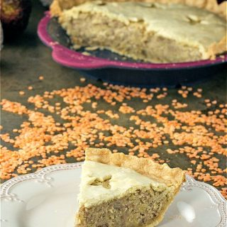 Red Lentil Meatless Mock Tourtiere Pie