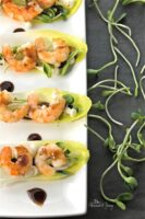 Easy Healthy Spicy Sweet Shrimp in Endive Cups are perfect for getting back on track to nutritious, healthy eating. Quick & easy for a fast, tasty dinner.| homemadeandyummy.com