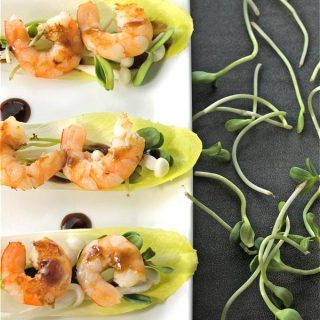 Easy Healthy Spicy Sweet Shrimp in Endive Cups