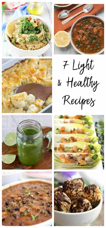 #FoodBlogGenius Healthy Recipe collage pin image.