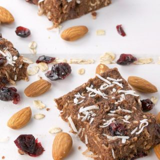 Healthy Homemade Soft Chew Granola Bars from Scratch. Nutrition with ingredients you can pronounce. | homemadeandyummy.com