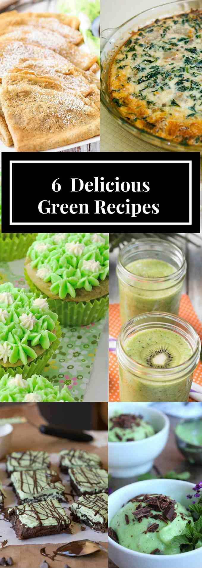 #FoodBlogGenius March Collaboration - Green Recipes pin image collage.