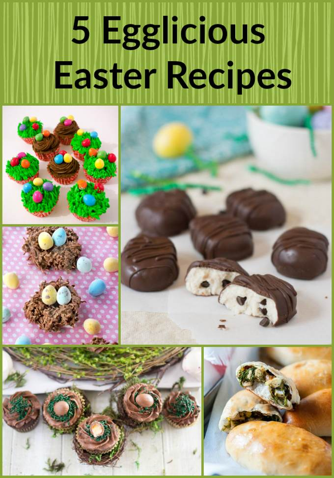Easter Egglicious collaboration for #foodbloggenius roundup image.