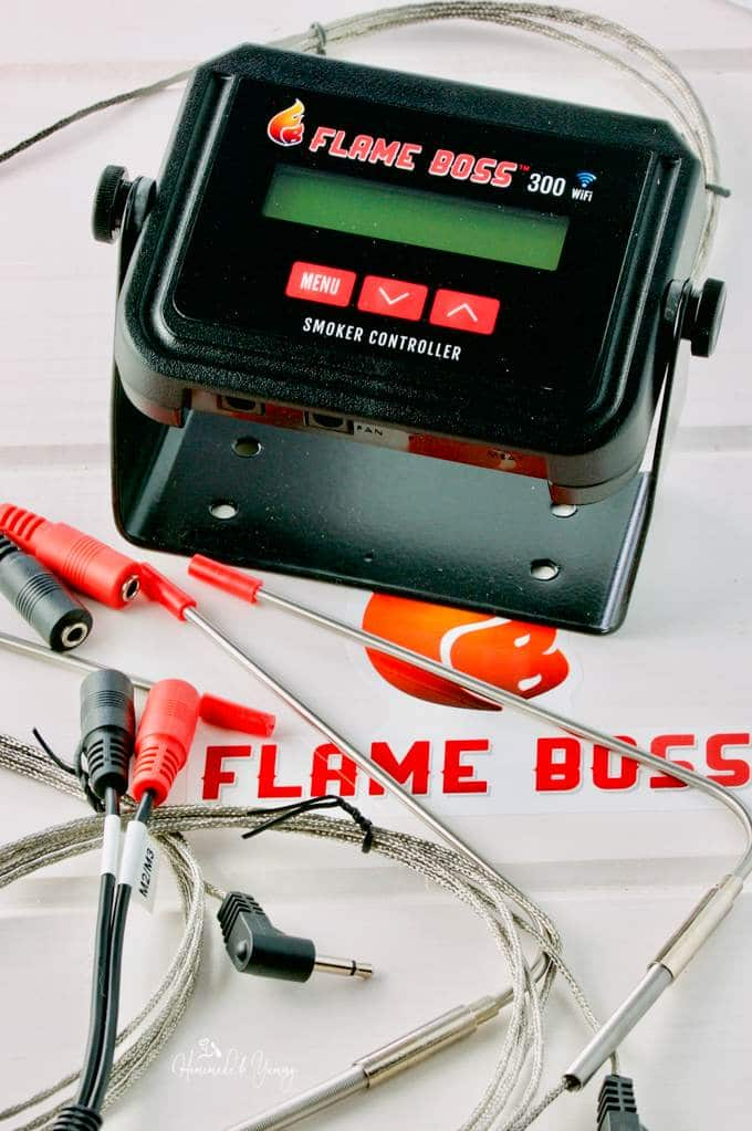 Flame Boss 300 WiFi Smoker Controller babysits the grill so you don't have to. Perfect meat every time and more time to party. | homemadeandyummy.com