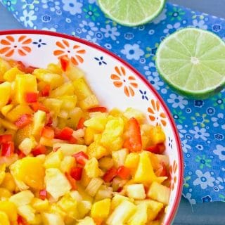 Fresh Pineapple Mango Tropical Salsa with Rum