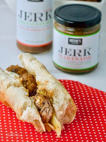 Double Jerk Turkey Meatball Sub made with Nature's Kitchen seasonings is a wild flavour explosion in your mouth. Your taste buds will be doing back flips. #SPONSORED| homemadeandyummy.com