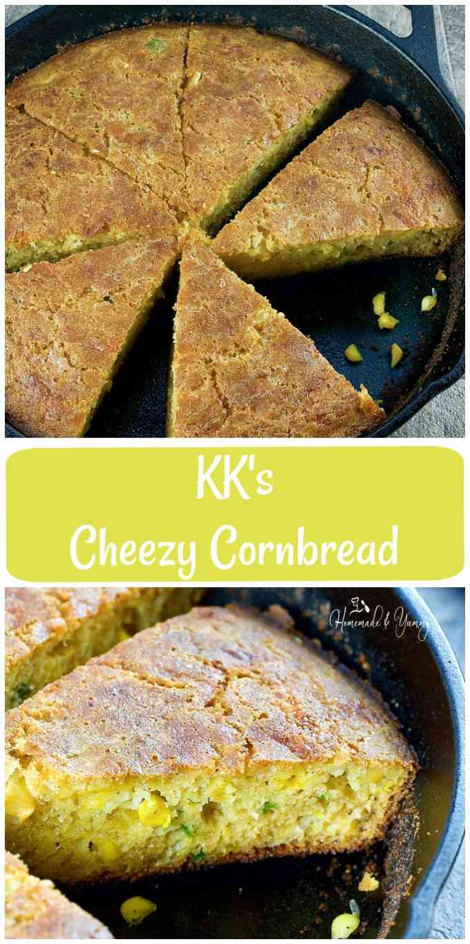KK's Cheezy Cornbread long pin image.