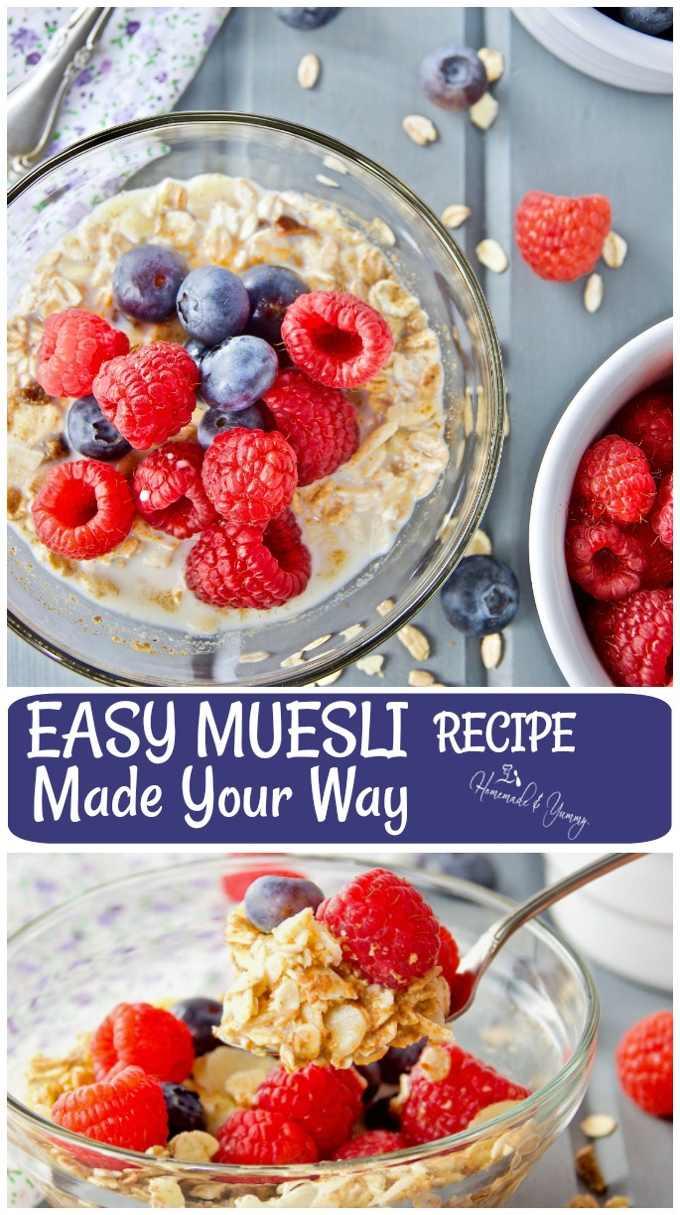 Easy Muesli Recipe Made Your Way Long Pin