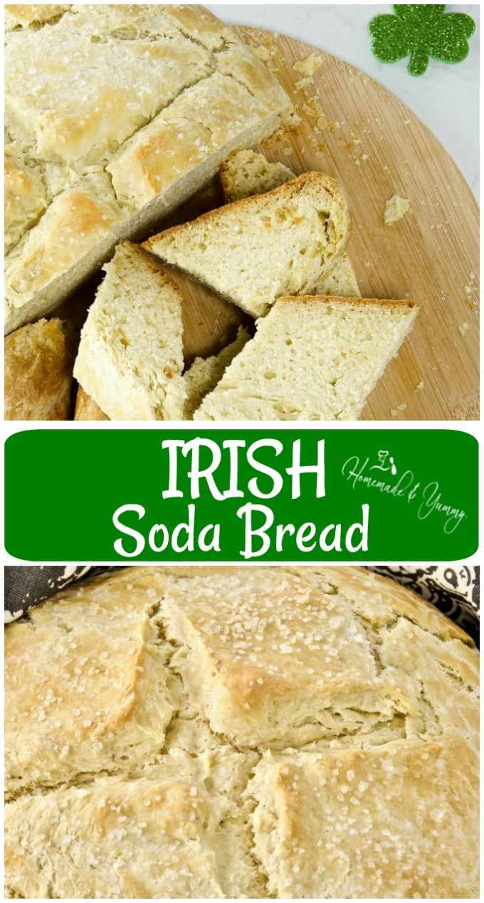 Irish Soda Bread long pin image.