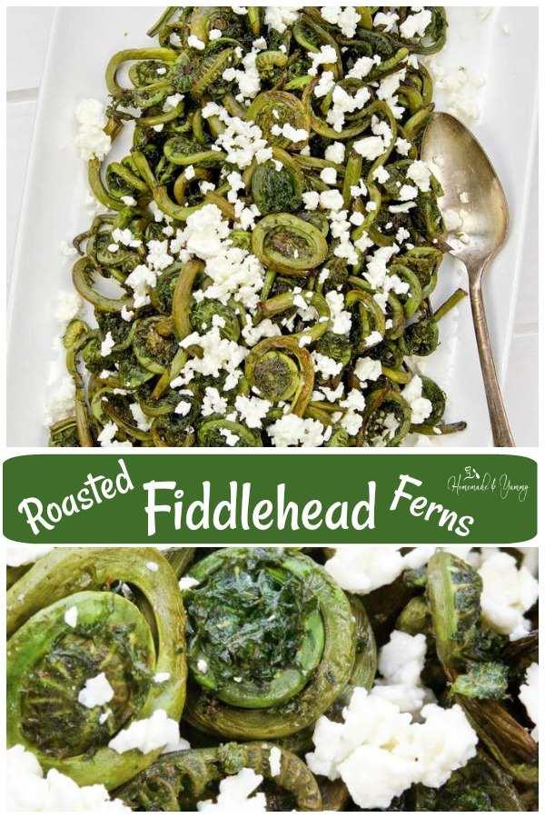 Roasted Fiddlehead Ferns Pin Image