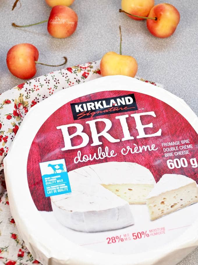 A wheel of brie for cold smoking.