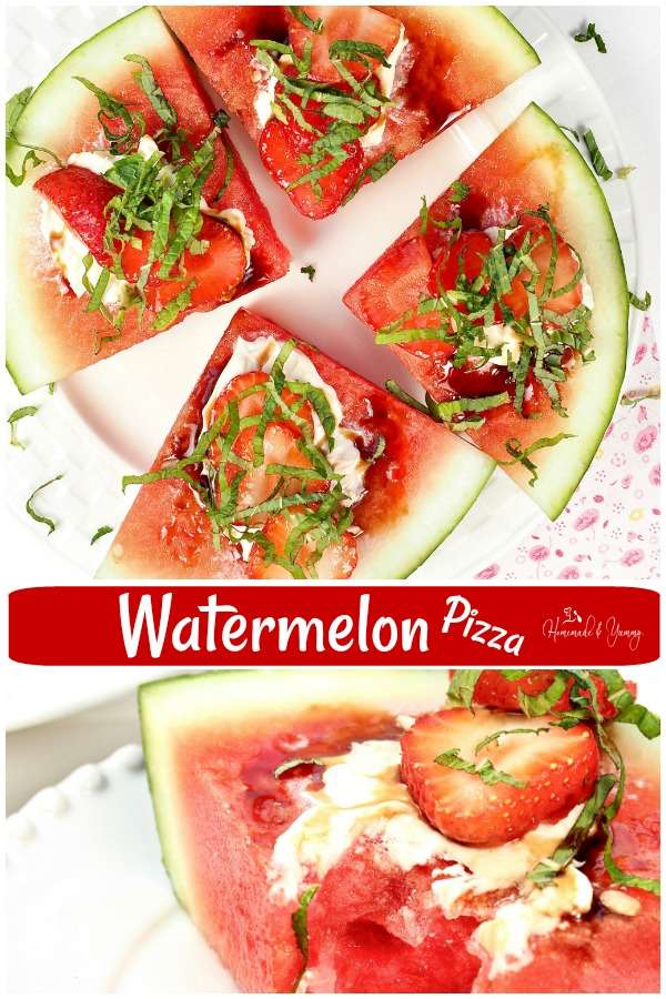 Watermelon Pizza Easy Fruit Dessert Pin Image