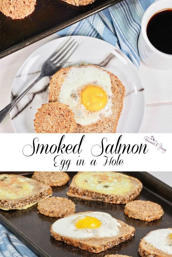 Smoked Salmon Egg In A Hole Pin Image
