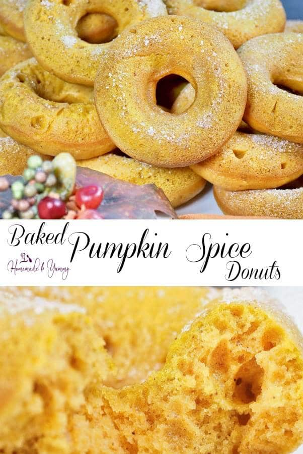Baked Pumpkin Spice Donuts Pin Image
