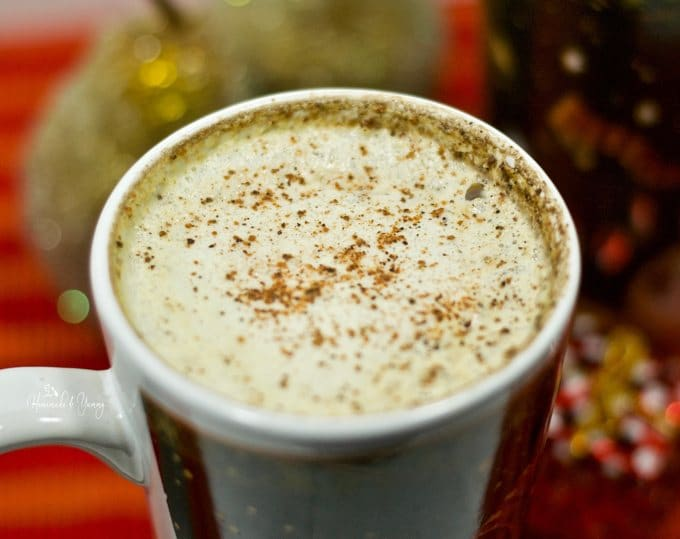Rum & Eggnog latte ready and waiting to enjoy for the holidays.
