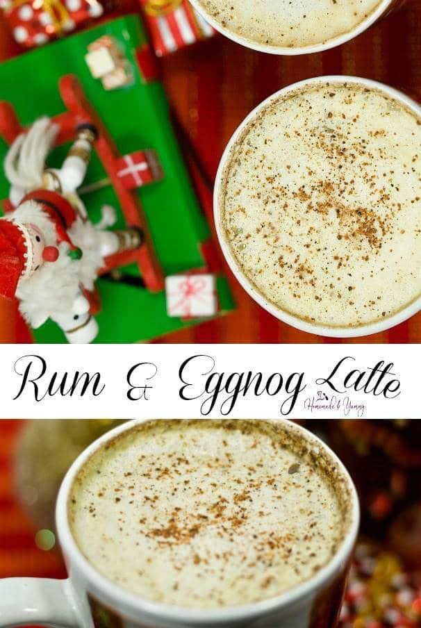Homemade Rum & Eggnog Latte Pin Image