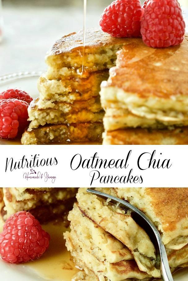 Nutritious Oatmeal Chia Pancakes with Kefir Pin Image
