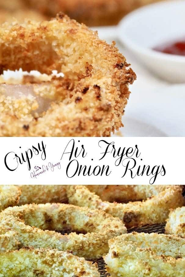 Crispy Air Fryer Onion Rings Pin Image