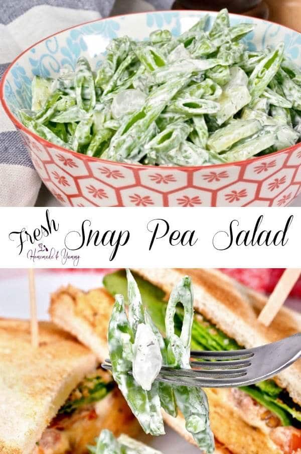 Fresh Snap Pea Salad Recipe Pin Image