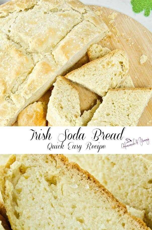 Irish Soda Bread Quick Easy Recipe Pin Image