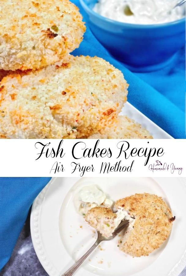 Fish Cakes Recipe Air Fryer Method Pin Image