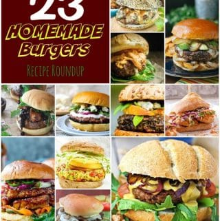 23 Homemade Burgers Recipe Roundup Collage