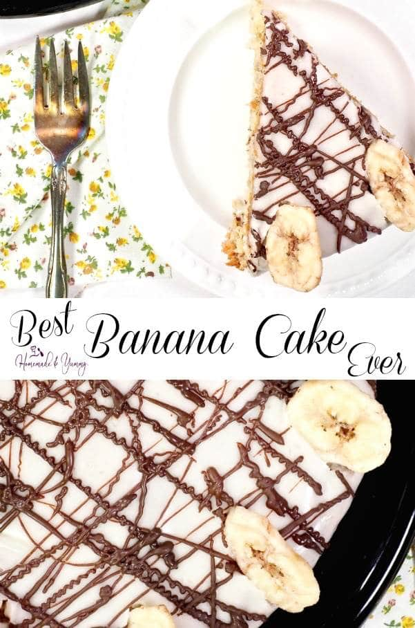 Best Banana Cake Ever Pin Image