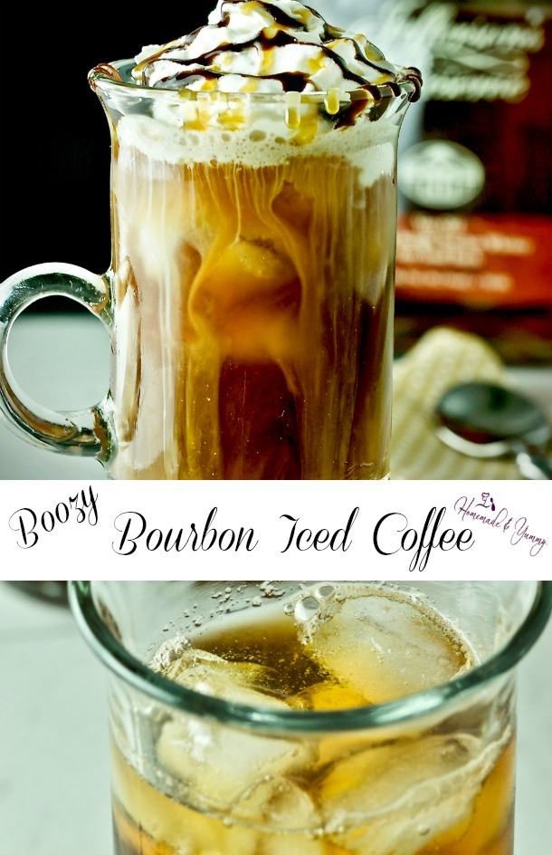 Boozy Bourbon Iced Coffee Pin Image