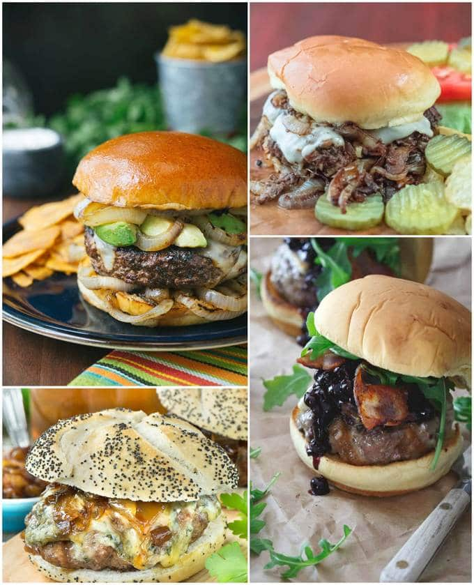 Beef Burger Collage