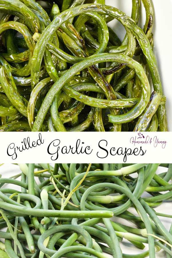 Grilled Garlic Scapes Pin Image