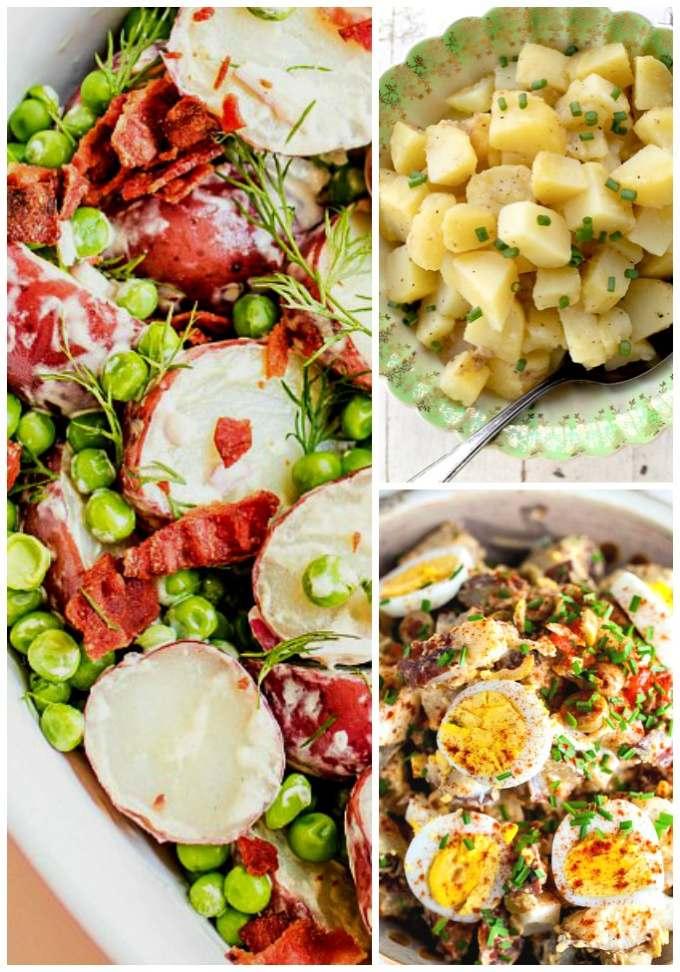 Collage of International Potato Salads